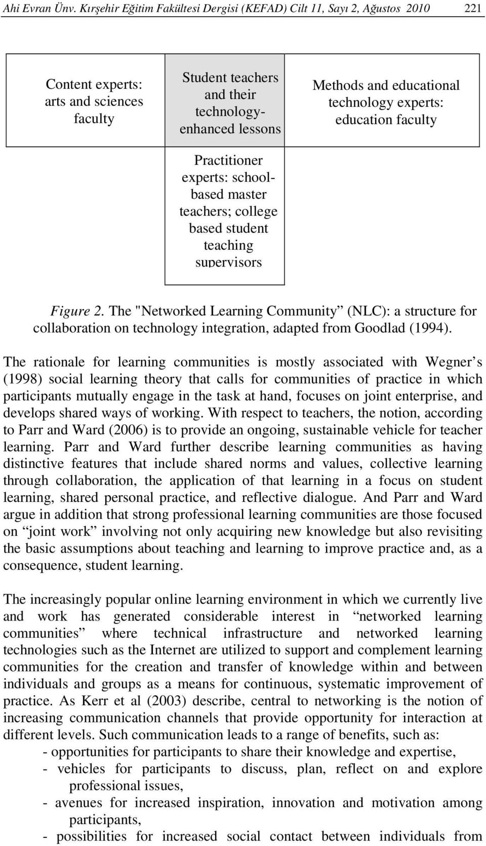 schoolbased master teachers; college based student teaching supervisors Methods and educational technology experts: education faculty Figure 2.