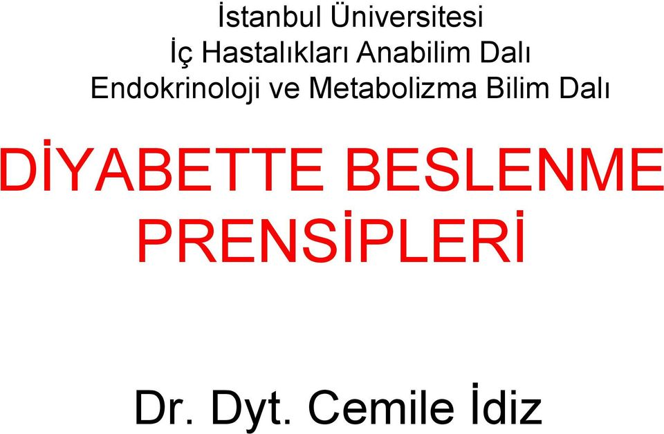 Endokrinoloji ve Metabolizma Bilim