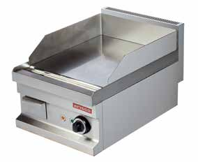 EG604 (Chr) 400x600x265 32 0,13 4050 380 V, 50 Hz 788 Electric Smooth surface (15 mm) Carbon steel plate. Removable fat container.