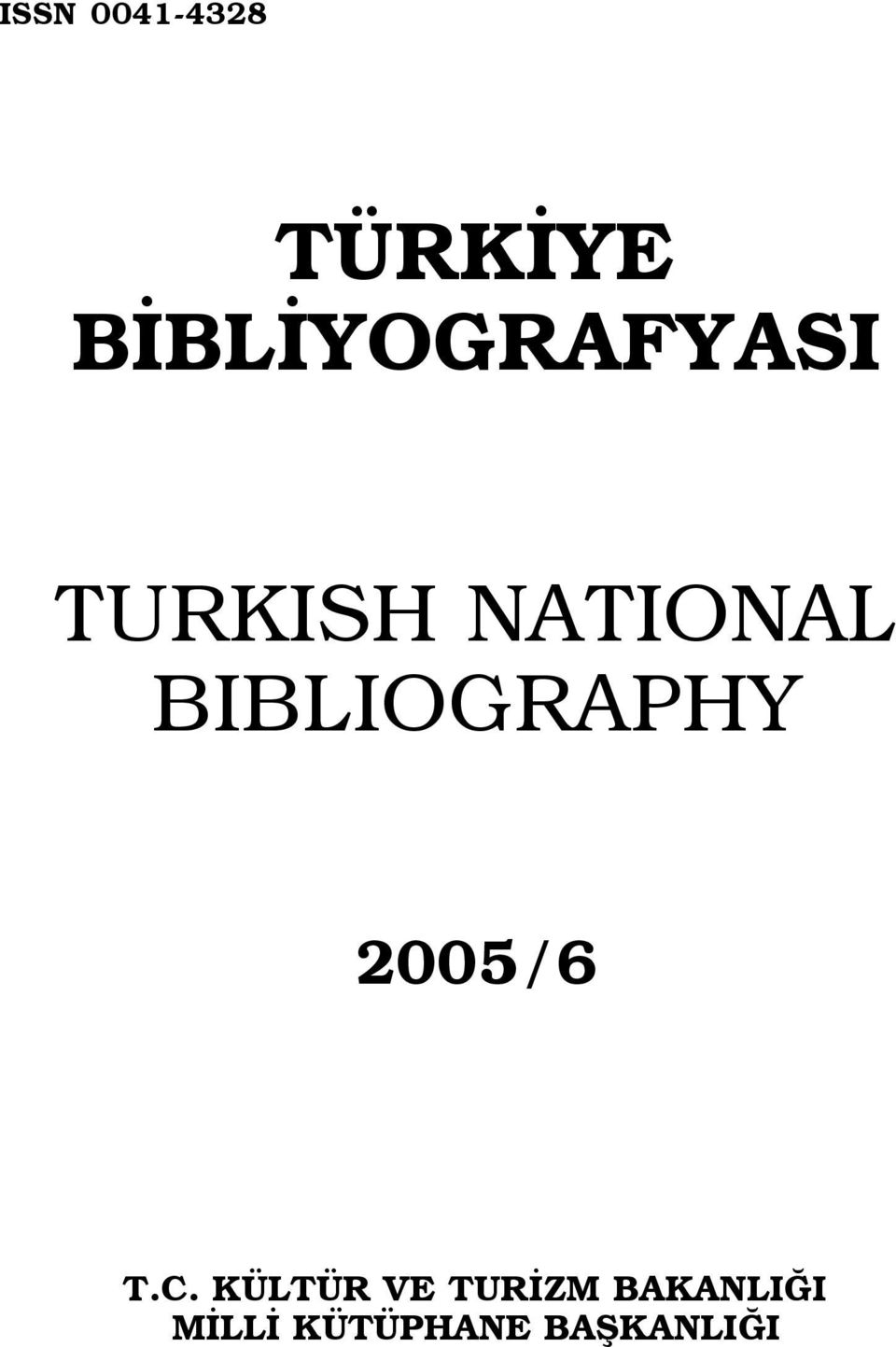 BIBLIOGRAPHY 2005/6 T.C.
