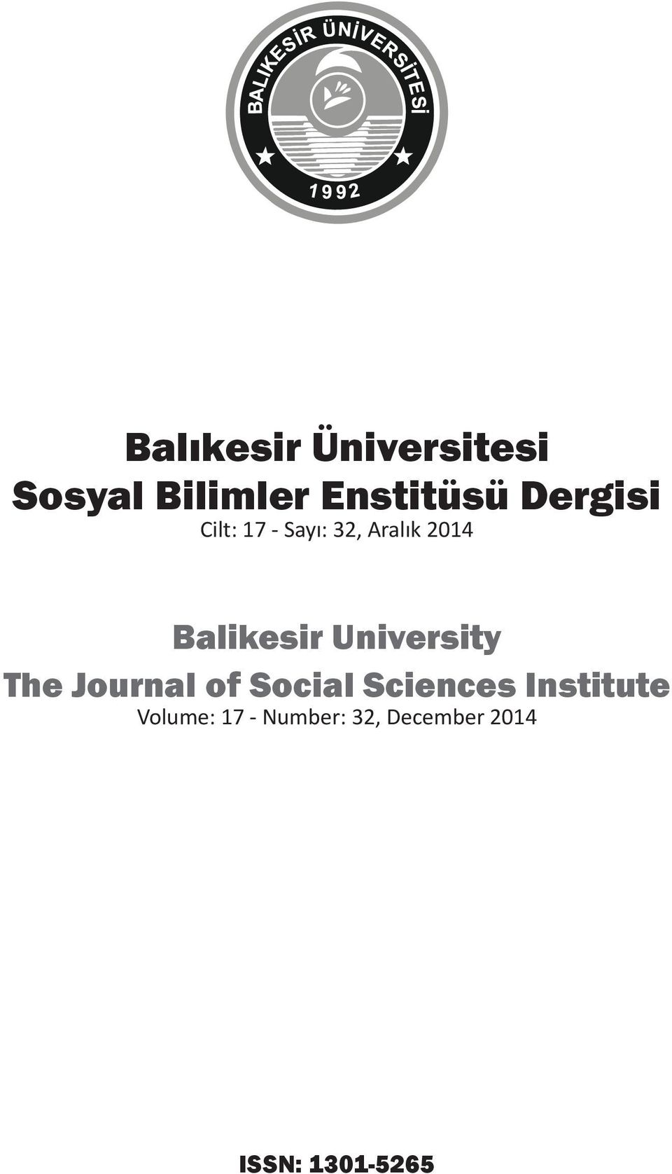 University The Journal of Social Sciences Institute