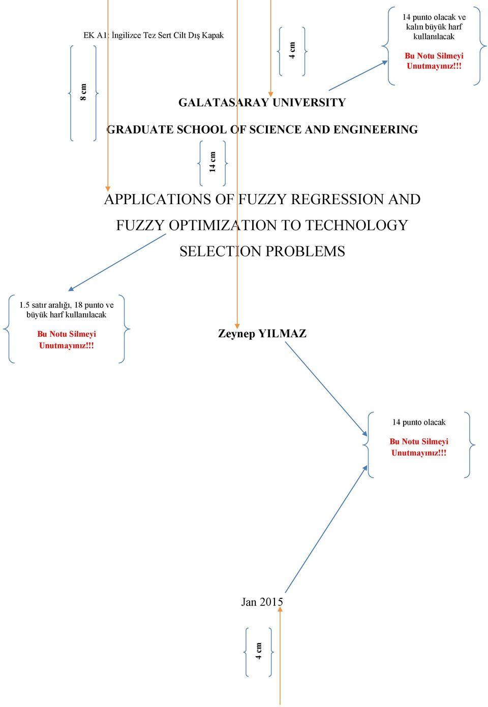 !! 8 cm GALATASARAY UNIVERSITY GRADUATE SCHOOL OF SCIENCE AND ENGINEERING 1 APPLICATIONS OF FUZZY REGRESSION