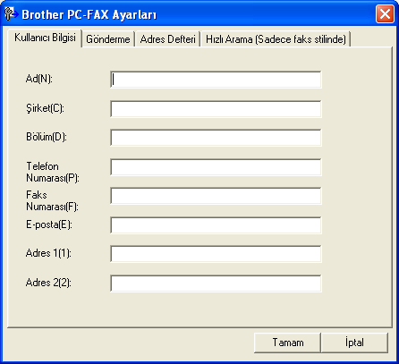 6 Brother PC-FAX Yazılımı (MFC-9460CDN, MFC-9465CDN ve MFC-9970CDW için) 6 PC-FAX gönderme 6 Brother PC-FAX özelliği, bir belgenin uygulama içerisinden standart bir faks olarak gönderilmesi için