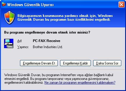 Brother PC-FAX Yazılımı (MFC-9460CDN, MFC-9465CDN ve MFC-9970CDW için) PC-FAX alma 6 Brother PC-FAX Alım Yazılımı, bilgisayarınızda faksları görüntülemenizi ve kaydetmenizi sağlar.
