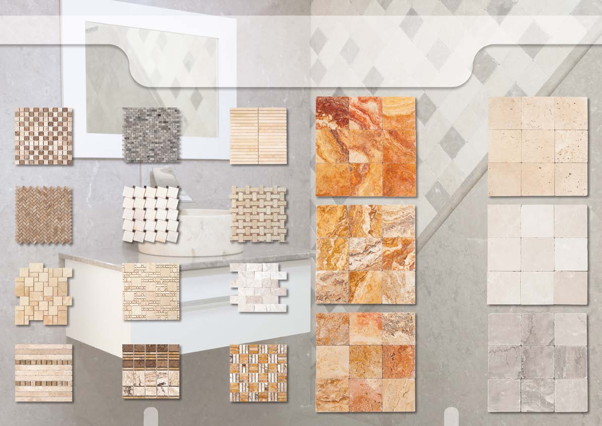 Mosaics Tumbled 4005 4009 4012 2023 Peach Blend 4013 4019 4020 2001 White 2020