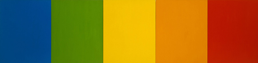 paint on canvas 10 x 20 feet (304.8 x 609.6 cm) Ellsworth Kelly (b.