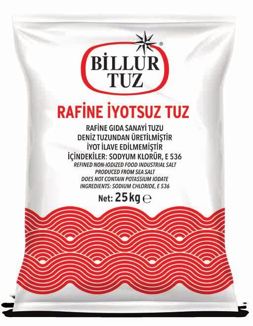 Non-Iodized Salt Rafine İyotlu Tuz Refined Iodized Salt Rafine Katkısız Tuz Refined
