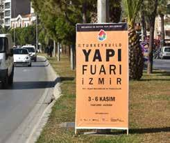 Numerous billboard applications and outdoor advertisements in İzmir,