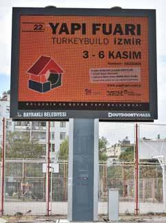 Ana arterlerde outdoor tv ekran  Outdoor TV advertising campaign.