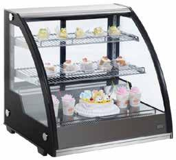 HOT - COLD & NEUTRAL DISPLAY UNITS RTW130L2 (RTW130L1) 797x590x685 130 68,70 0,41 200 230 V, 50 Hz 1.630 COUNTERTOP DISPLAY Designed display and service of cold dishes, bakeries, cakes.