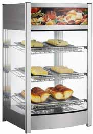 259 ROTATING Rotating display unit for warm bakeries, pizza etc.