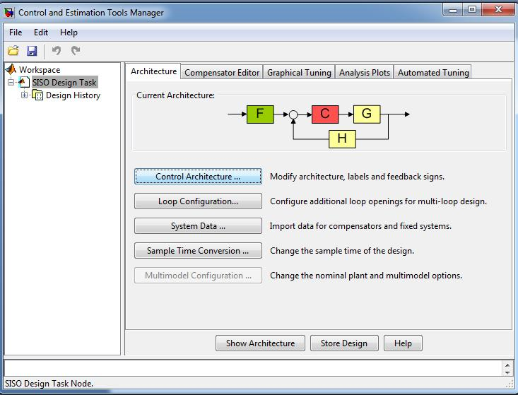 MATLAB Control System Toolbox (SISOTOOL)