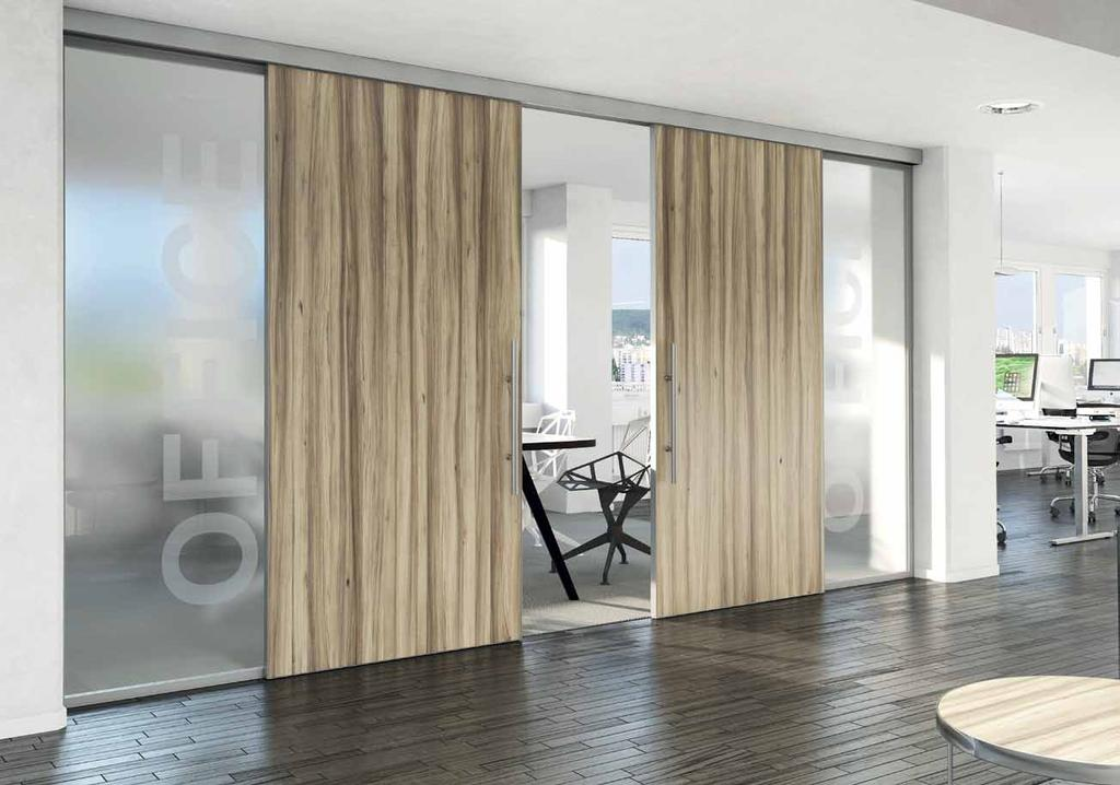 sistemi Two sliding and two fixed sliding door
