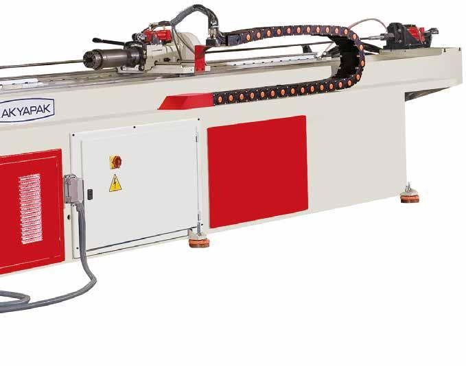 Technical Features Standart Özellikler High quality hydraulic bending system Hydraulic assistant axies Moving ahead is done manually Controlling ability of servo axis speeds from control panel Foot