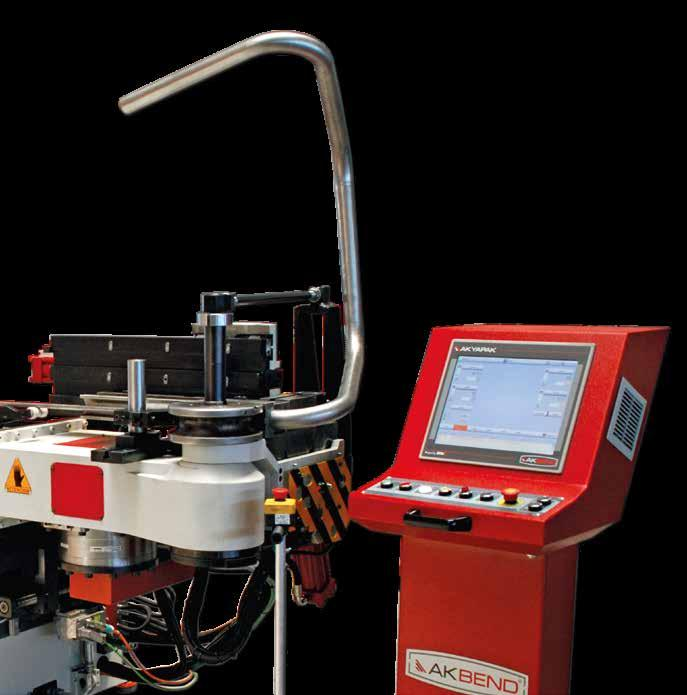 See it in action ABM 50 CNC Tube Bending Machine bends tubes perfectly up to 50 mm diameter.