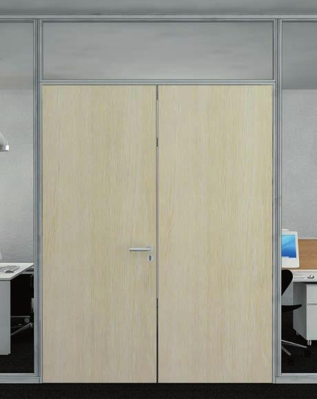 kanadı Double door frame standard height Glass door leaf