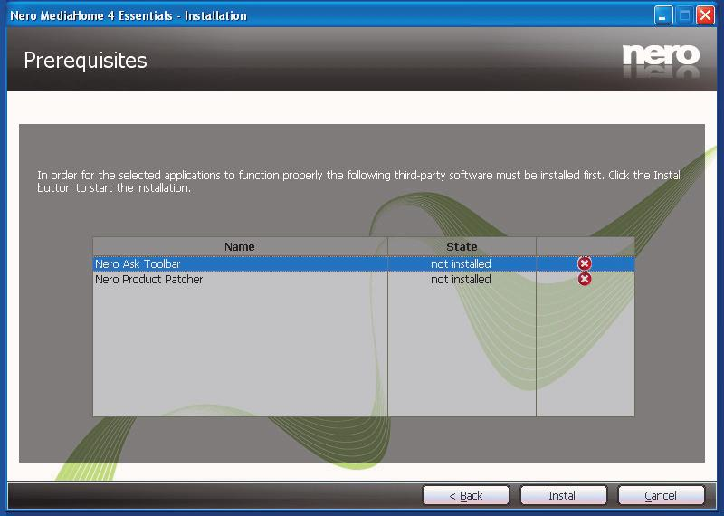 7. Use Typical installation and click the Next button. The Prerequisites screen is displayed.
