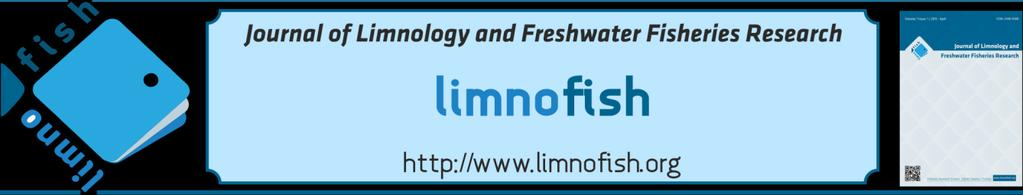LIMNOFISH-Journal of Limnology and Freshwater Fisheries Research 3(2): 79-89 (2017) Gönen Çayı (Balıkesir - Türkiye) Durgun Sularının Zooplankton Faunası ve Mevsimsel Değişimleri Nilay GÜRLEYEN, M.