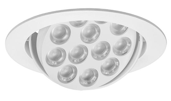 MULTILED Ankastre aygıtlar / Recessed luminaires Alüminyum enjeksiyon soğutucu ve dış 12-18 - 30-40 optik lens seçenekleri Die cast aluminium heat sink and outer 12-18 - 30-40 optical lens options 12