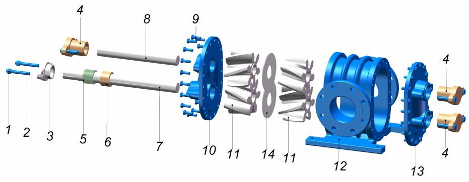 "YHL 4"" PARÇA LİSTESİ / YHL 4"" PART LİST 1 SOMUN Nut 8 MİL2 Shaft2 2 SAPLAMA Stud 9 CİVATA Screw 3 SALMASTRA BASKISI Packing press 10 ÖN KAPAK Front Cover 4"