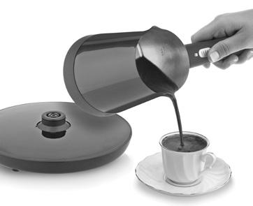 When you want to take your appliance from the transmission base, take your appliance to the closed position. You can only boil water or make Turkish coffee with your Turkish coffee maker.