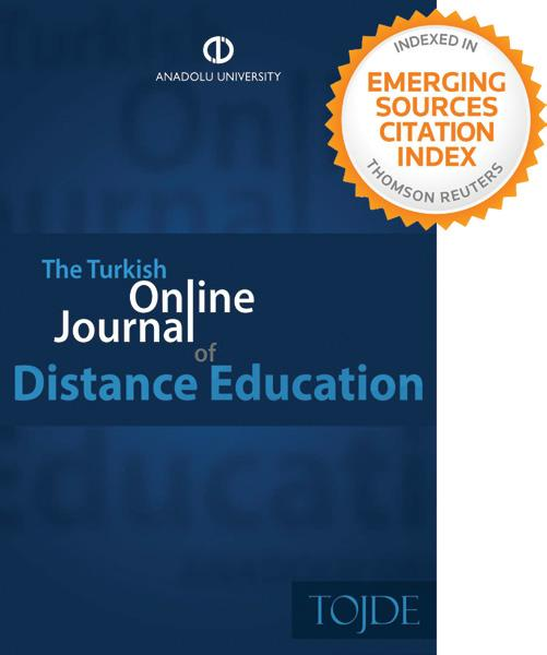 TOJDE Artık Web of Science Platformunda Anadolu Üniversitesinin uzaktan eğitim alanındaki öncü dergisi Turkish Online Journal of Distance Education (TOJDE), Ekim 2017 sayısı ile birlikte Thompson