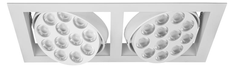 GRIDLED Ankastre aygıtlar / Recessed luminaires 12 18 40 Alüminyum enjeksiyon soğutucu gövde 12-18 - - 40 optik lens seçenekleri Die cast aluminium heat sink 12-18 - - 40 optical lens options L