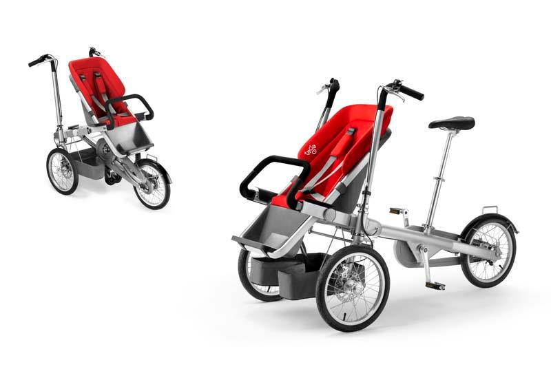 BIKE WITH A BABY BUGGY: BIKE WITH A BABY BUGGY FOR CARRYING 0-6 YEARS