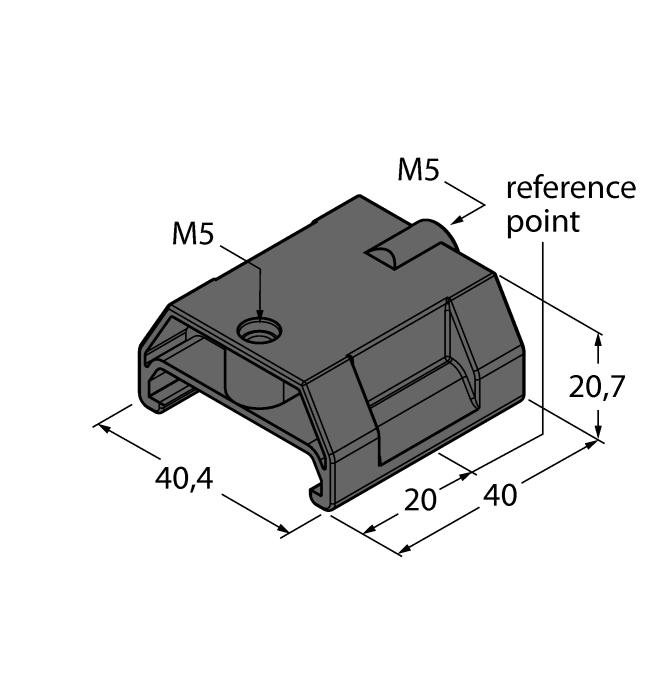 P6-LI-Q25L 6901069 Floating positioning element for Li-Q25L; The nominal distance to the sensor is