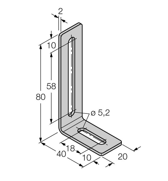 per bag M4-Q25L 6901048 Mounting bracket for linear position sensor Q25L; material Stainless steel; 2