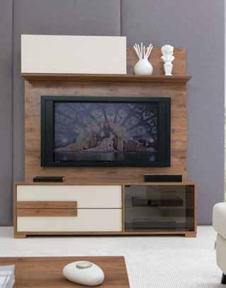 Ceviz-Seramik / Marbled Walnut-Seramic TV Ünitesi TV Unit Hareli