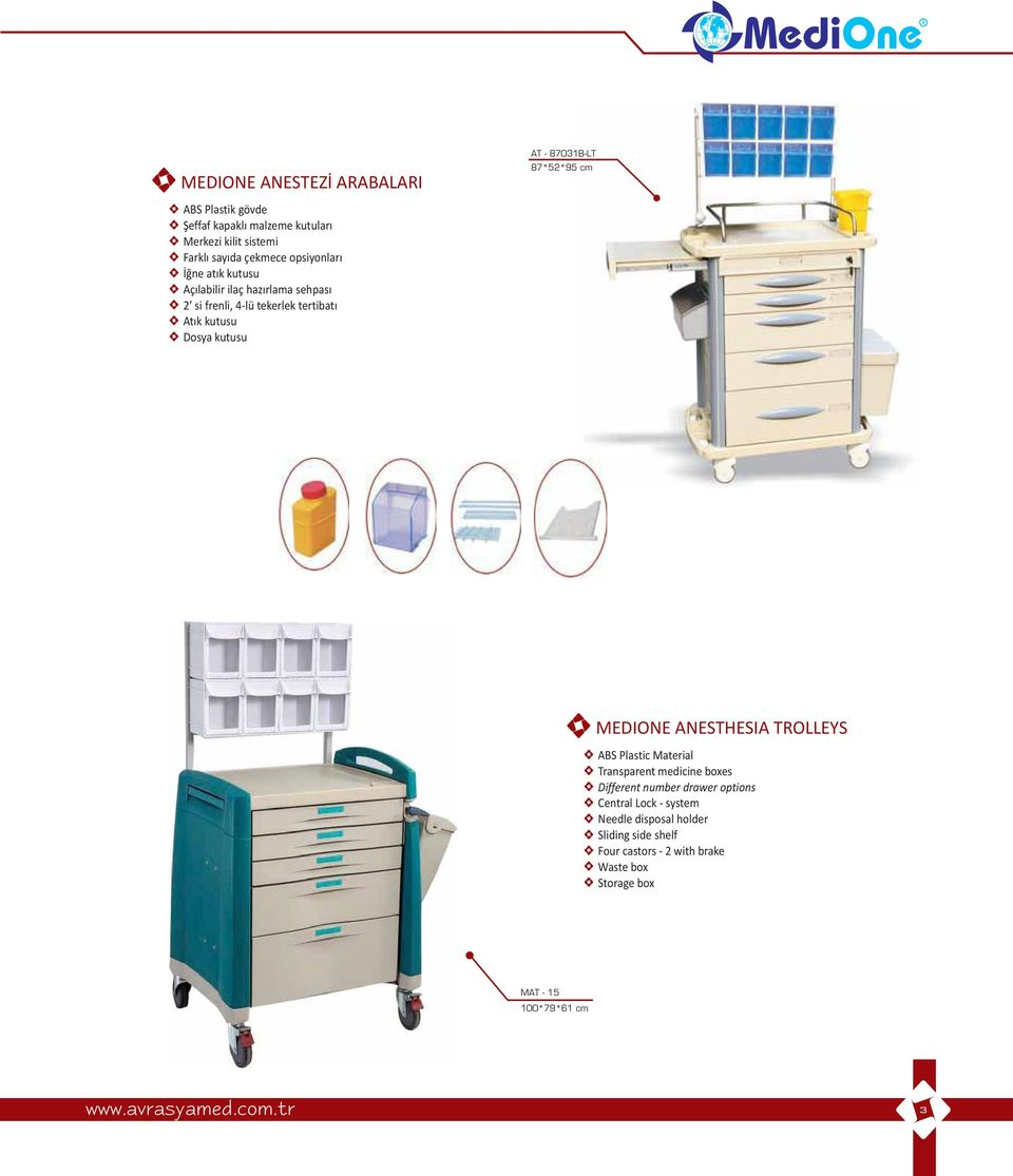 Rnler Contents C O M Pdf Holder Fuse Box 87 Dakika 875295 Cm Medione Anesthesia Trolleys Abs Plastic Material Transparent Medicine Boxes Different